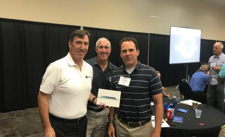 Tony_Regan and Marc Stern with Mike Schube, Winner of iPad Giveaway