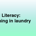 Childhood literacy: the next big thing in laundry