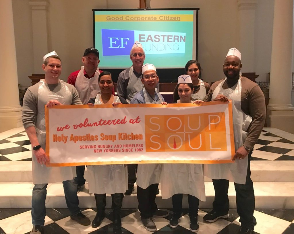 Eastern Funding Team Volunteers at Holy Apostles Soup Kitchen