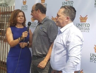 Michael Fanger talks at United Bodega of America membership launch.