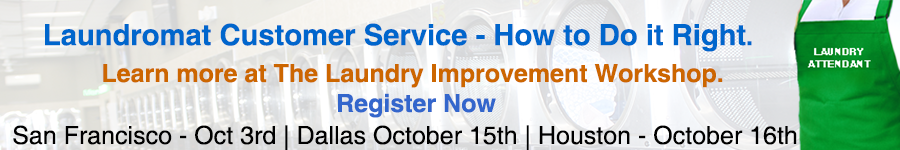 Register for Laundry Improvement Workshop and learn more about laundromat attendant customer service